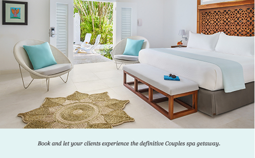 Book and let your clients experience the definitive Couples spa getaway.